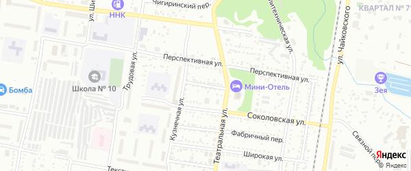 Красногвардейский переулок на карте Благовещенска с номерами домов