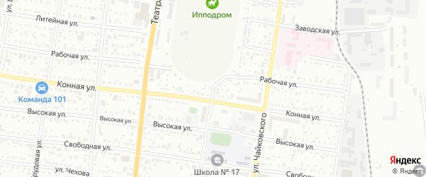 Политехническая улица на карте Благовещенска с номерами домов