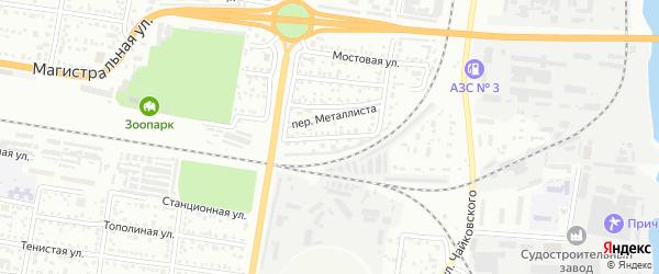 Кооперативный переулок на карте Благовещенска с номерами домов