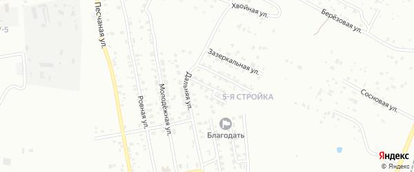 Переулок Дальний-1 на карте Благовещенска с номерами домов
