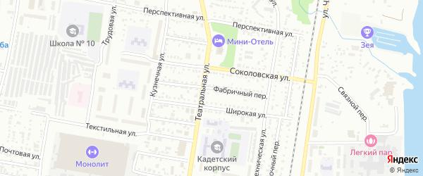 Фабричный переулок на карте Благовещенска с номерами домов