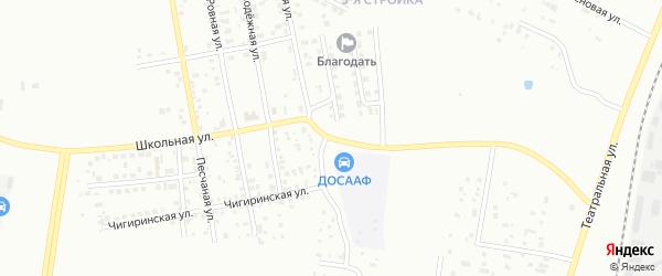 Школьная улица на карте Благовещенска с номерами домов