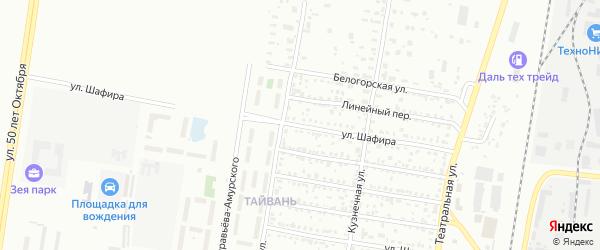 Улица Шафира на карте Благовещенска с номерами домов