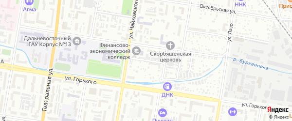 Рабочий переулок на карте Благовещенска с номерами домов