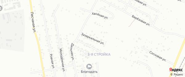 Зазеркальная улица на карте Благовещенска с номерами домов