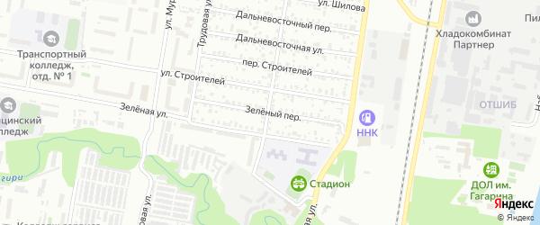 Зеленый переулок на карте Благовещенска с номерами домов