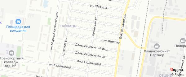 Улица Шилова на карте Благовещенска с номерами домов