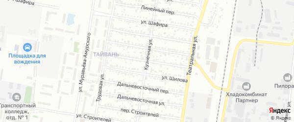 Магистральный переулок на карте Благовещенска с номерами домов