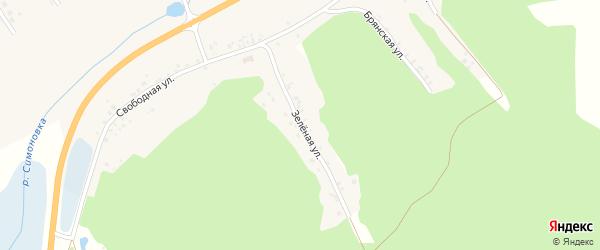 Зеленая улица на карте Новотроицкого села с номерами домов
