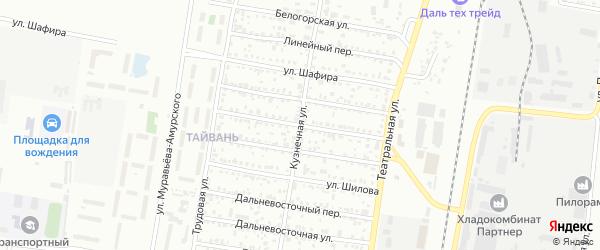 Улица Драгошевского на карте Благовещенска с номерами домов
