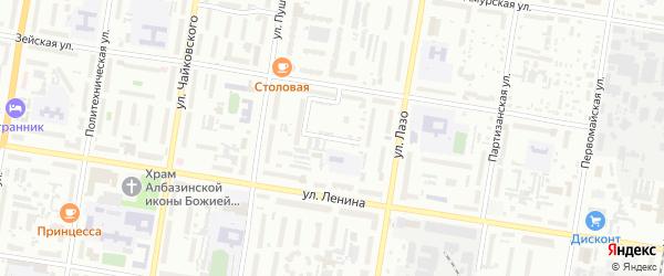 Зейский переулок на карте Благовещенска с номерами домов