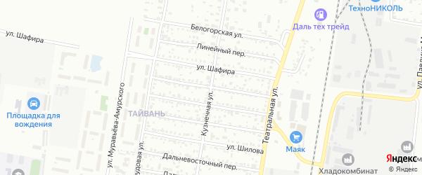 Улица Монтажников на карте Благовещенска с номерами домов