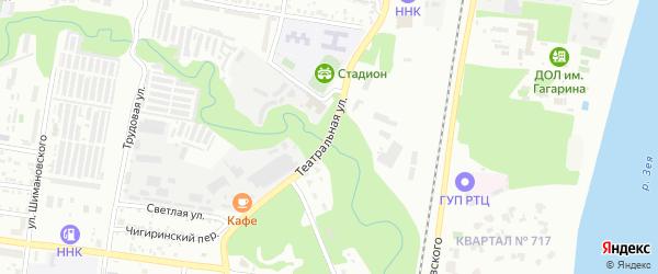 Театральная улица на карте Благовещенска с номерами домов