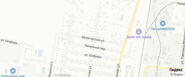 Белогорская улица на карте Благовещенска с номерами домов