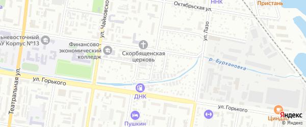 Педагогический переулок на карте Благовещенска с номерами домов