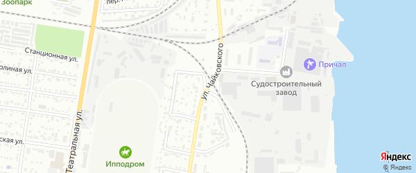 Улица Чайковского на карте Благовещенска с номерами домов