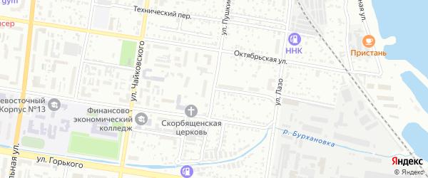 Советский переулок на карте Благовещенска с номерами домов