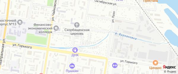 Студенческий переулок на карте Благовещенска с номерами домов