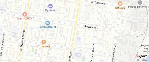 Улица Лазо на карте Благовещенска с номерами домов
