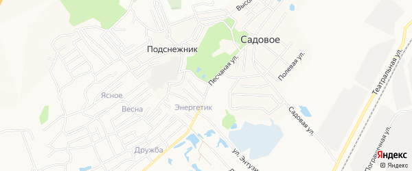 Карта поселка Мясокомбината города Благовещенска в Амурской области с улицами и номерами домов
