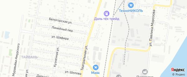 Улица Путевая Казарма на карте Благовещенска с номерами домов