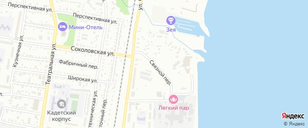 Связной переулок на карте Благовещенска с номерами домов