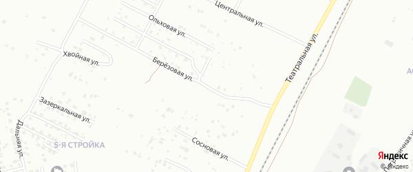 Березовая улица на карте Благовещенска с номерами домов
