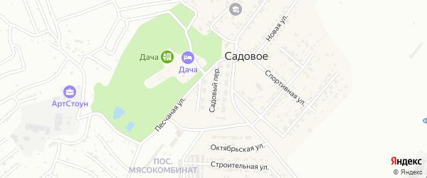 Пионерская улица на карте Садового села с номерами домов
