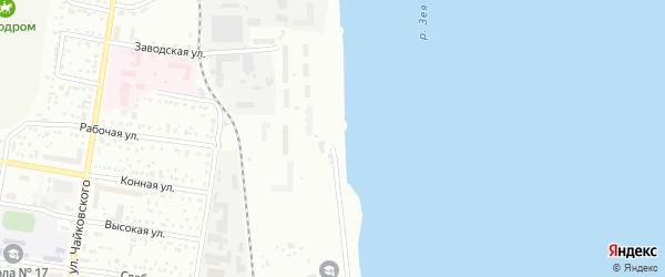 Набережная улица на карте села Белогорья с номерами домов