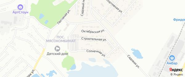 Строительная улица на карте Садового села с номерами домов
