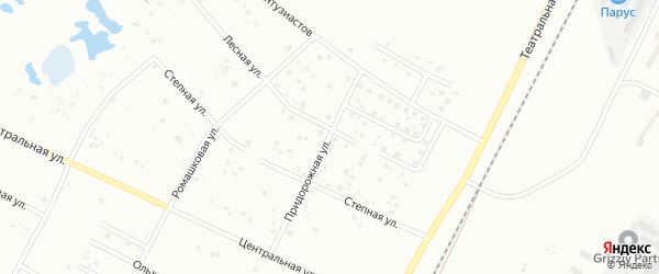 Придорожная улица на карте Благовещенска с номерами домов