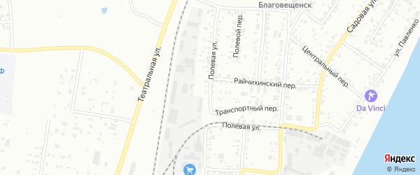 Полевая улица на карте села Плодопитомника с номерами домов