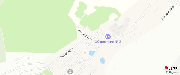 Зеленая улица на карте Садового села с номерами домов