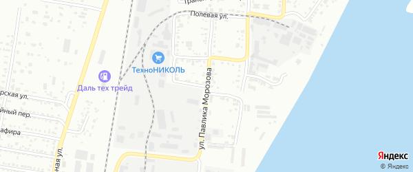 Хабаровский переулок на карте Благовещенска с номерами домов