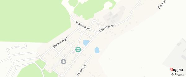 Садовая улица на карте Садового села с номерами домов