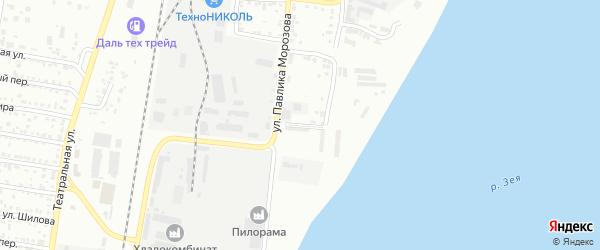 Южный переулок на карте Благовещенска с номерами домов