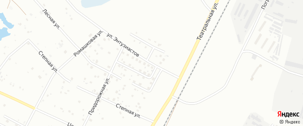 Улица Энтузиастов на карте Благовещенска с номерами домов