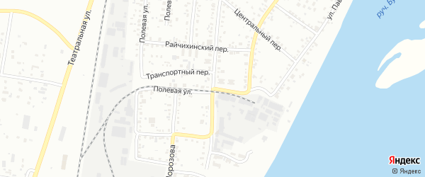 Транспортный переулок на карте Благовещенска с номерами домов