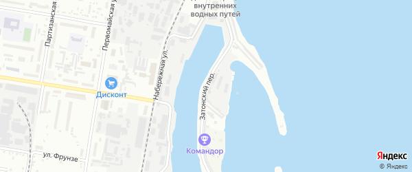 Затонский переулок на карте Благовещенска с номерами домов