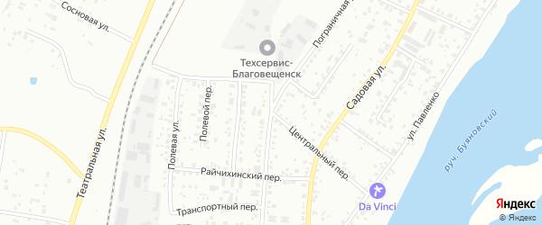 Центральный переулок на карте Благовещенска с номерами домов