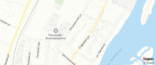 Солнечный переулок на карте Благовещенска с номерами домов