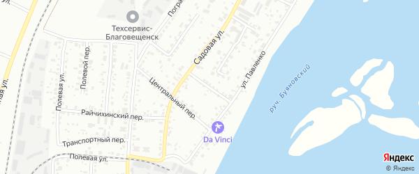 Астрахановский переулок на карте Благовещенска с номерами домов