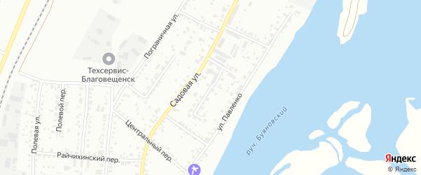 Призейский переулок на карте Благовещенска с номерами домов