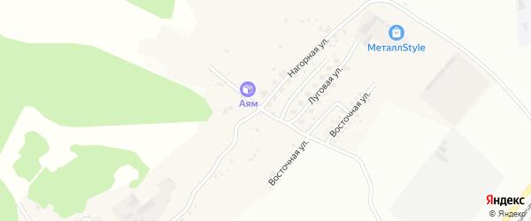 Северная улица на карте Садового села с номерами домов