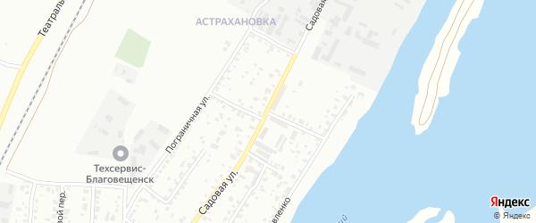 Ученический переулок на карте Благовещенска с номерами домов