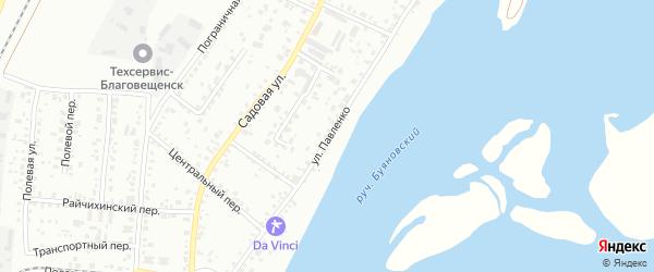 Улица Павленко на карте Благовещенска с номерами домов