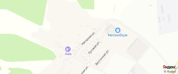 Нагорная улица на карте Садового села с номерами домов