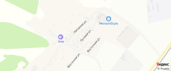 Луговая улица на карте Садового села с номерами домов