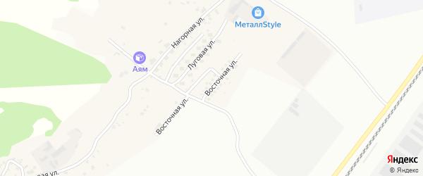 Восточная улица на карте Садового села с номерами домов