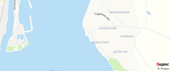 Карта Зазейского поселка города Благовещенска в Амурской области с улицами и номерами домов